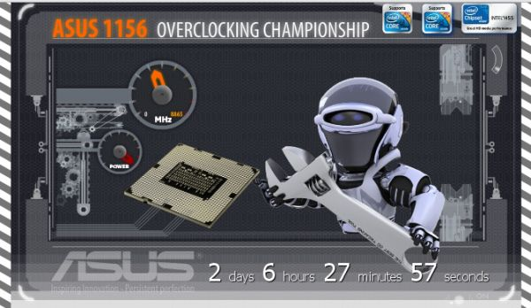 concurs online de overclocking ASUS 1156