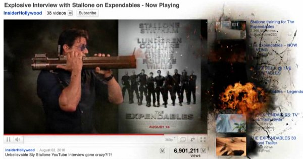 The Expendables promo YouTube