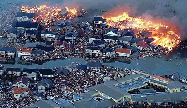 Foc si apa in Japonia
