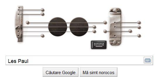 Astazi Google il sarbatoreste pe Les Paul