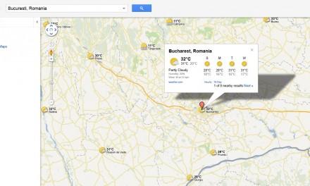 Meteo pe Google Maps